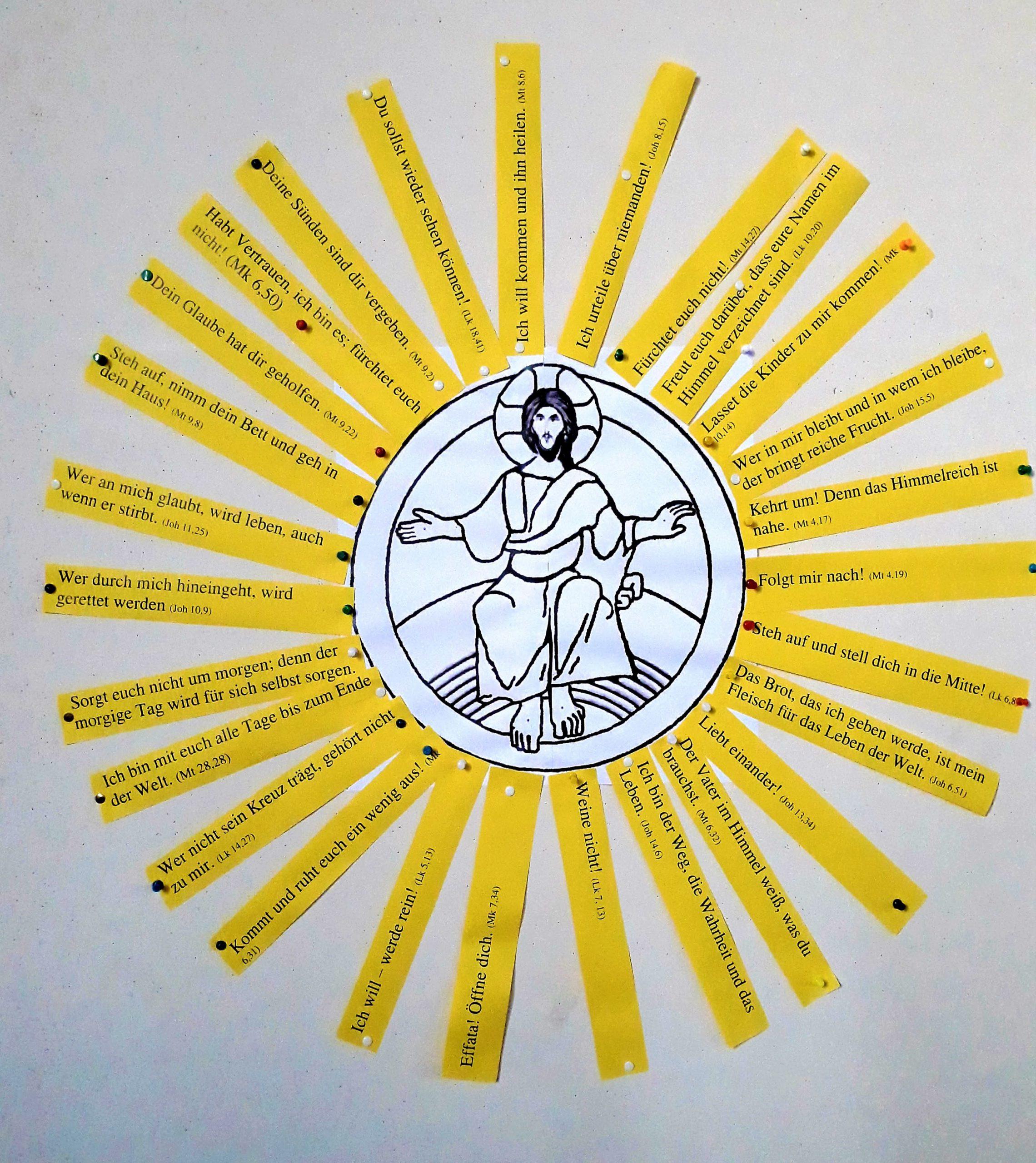 Jesus ist das Licht der Welt, Familiengottesdienst am Fest der Verklärung in Bad Kohlgrub im Frühling 2020; Foto: Tatjana Hämmerle